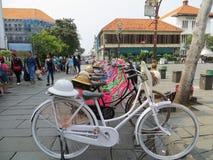 Kota Tua, Jakarta. Batavia old city. Bicycle rental in Fatahillah Square, Kota Tua. Batavia old city Royalty Free Stock Photography