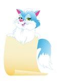kota utrzymań papier Zdjęcia Stock