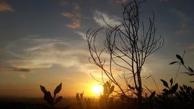Kotakinabalu Sabah de vue de coucher du soleil Photo libre de droits