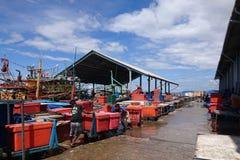 Kotakinabalu Sabah van de vissenmarkt royalty-vrije stock foto