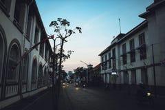 Kotalama Semarang of oude stad van Semarang bij dageraad Stock Foto
