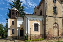 Church of the Holy Trinity in historical town of Kotel, Sliven Region, Bulgaria. KOTEL, BULGARIA - AUGUST 1, 2014: Church of the Holy Trinity in historical town royalty free stock photos