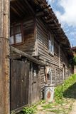 Houses of the nineteenth century in historical town of Kotel, Sliven Region, Bulgaria. KOTEL, BULGARIA - AUGUST 1, 2014: Houses of the nineteenth century in royalty free stock photography