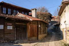 Kotel, Bulgaria. Streets of Kotel, Bulgaria with old traditional houses Royalty Free Stock Photo