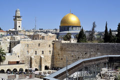 Kotel and Dome of the Rock mosque. Stock Photography