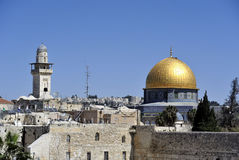 Kotel and Dome of the Rock mousque. Stock Images