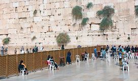 The Kotel In Jerusalem. A fence separates between the men and the women in the Kotel in Jerusalem.Israel royalty free stock images