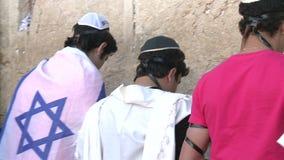 Kotel / Western wall. Hakotel ( English: Western Wall ) in jerusalem is a sacred place of Judaism in Jerusalem, Israel stock video