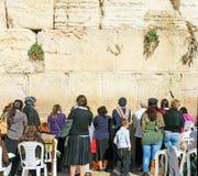 Kotelen i Jerusalem Arkivbilder