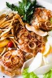 Kotelet en gebraden gerechten Stock Afbeelding