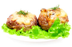 Kotelett angefüllt mit Pilzen Lizenzfreie Stockfotos
