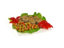 Koteletten en groenten Royalty-vrije Stock Afbeeldingen