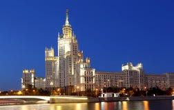 Kotelnicheskaya bulwaru budynek, Moskwa, Rosja fotografia royalty free