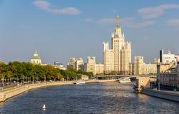 Kotelnicheskaya bulwaru budynek w Moskwa Fotografia Royalty Free