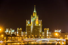 Kotelnicheskaya bulwaru budynek w Moskwa Obrazy Stock