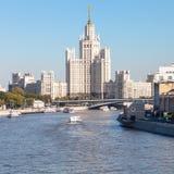 Kotelnicheskaya bulwaru budynek w Moskwa Zdjęcie Royalty Free