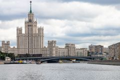 Kotelnicheskaya bulwaru drapacz chmur w Moskwa Zdjęcia Stock