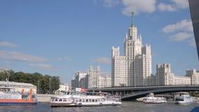 Kotelnicheskaya-Damm-Gebäude in Moskau, Russland stock footage
