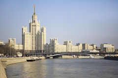 Kotelnicheskaya Embankment Building. Moscow. Stock Photo