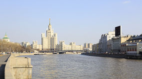 Kotelnicheskaya Embankment Building. Moscow. Royalty Free Stock Photo