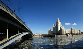 Kotelnicheskaya Embankment Building (Panorama), Moscow, Russia Stock Photo
