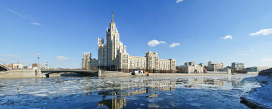 Kotelnicheskaya Embankment Building (Panorama), Moscow, Russia Stock Photography