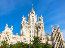Kotelnicheskaya skyskrapa Royaltyfri Fotografi