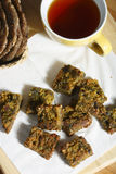 Kothimbir Vadi is a starter snack from maharashtra Royalty Free Stock Image