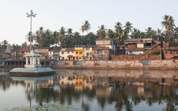 Koti Tirtha sacral pond. Amazing Gokarna, Uttara Kannada Karnataka, India Royalty Free Stock Photography