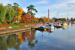 Kotka in autumn Royalty Free Stock Images