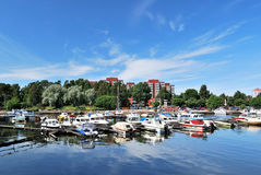Kotka, Finland. A very beautiful town of  Kotka, Finland, with wonderful  haven Royalty Free Stock Images