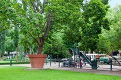 Kotka. Finland. Children in Sibelius Park Stock Images