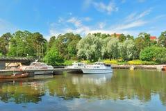 Kotka, Finland. Haven Stock Afbeeldingen