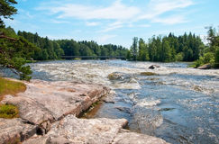 Kotka finland Rapid de Langinkoski Foto de Stock