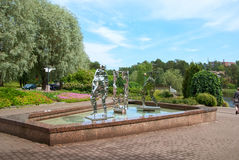 Kotka. Finland. Sapokka Water Garden Stock Photography
