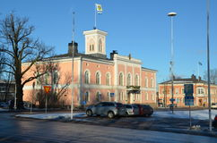 Kotka Finland, stadssikter arkivfoton