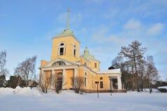 Kotka, Finlande. Église orthodoxe de Saint-Nicolas Image stock