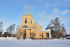 Kotka, Finlandia. Igreja ortodoxa de São Nicolau Imagem de Stock