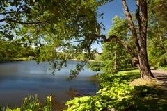 Kotka, Finlandia - jardim da água de Sapokka fotos de stock