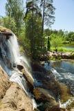 Kotka, Finlandia - jardim da água de Sapokka imagem de stock