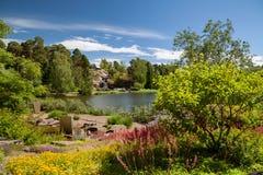 Kotka, Finlandia - jardim da água de Sapokka imagens de stock