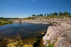 Kotka, Finlandia - Katariina Seaside Park, o Golfo da Finlândia, mar Báltico foto de stock royalty free