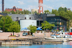 Kotka Finlandia Maretarium blisko Sapokka zatoki Zdjęcia Stock