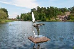 Kotka Finlandia Rzeźba skład w Sapokka wody ogródzie Obraz Royalty Free