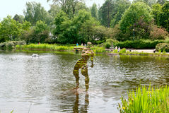 Kotka Finlandia Sapokka wody ogród Obrazy Royalty Free