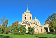 Kotka, Finlandia. Stary ortodoksyjny kościół Zdjęcie Royalty Free