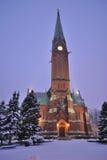 Kotki katedra przy zmierzchem obraz stock
