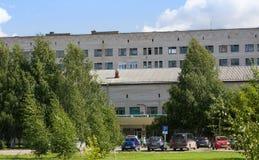 Kotlas, зона Arkangelskaya, Россия - 16-ое августа 2017: Здание больницы главного города в Kotlas, зоне Arkangelskaya, Ru Стоковые Фото