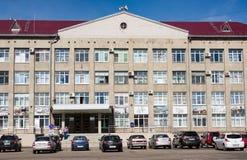 Kotlas, зона Arkangelskaya, Россия - 16-ое августа 2017: Здание администрации в Kotlas, зоны города Arkangelskaya, Russi стоковые изображения rf
