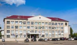 Kotlas, зона Arkangelskaya, Россия - 16-ое августа 2017: Здание администрации в Kotlas, зоны города Arkangelskaya, Russi стоковая фотография rf